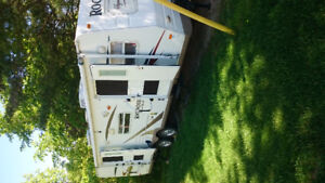 Well equipped Rockwood travel trailer