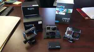 Priced to sell. GoPro Hero 4 black with accessories.