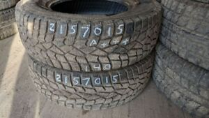 Pair of 2 Sumitomo Ice Edge 215/70R15 WINTER tires (95% tread li