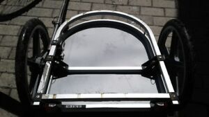 heavy duty alum bike trailer flatbed made by WIKE professional