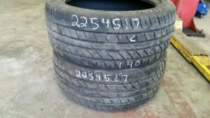 Pair of 2 Evergreen EU72 225/45R17 tires (60% tread life)