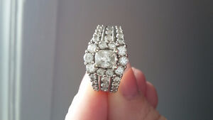 Belle 1,74 ct. 14K. anneal blanc grape de diamants end or.