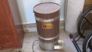 Central vacuum system power unit with a collection canister