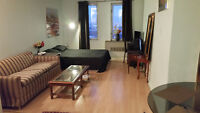 Fully Furnished Studio Downtown Montreal, AVAILABLE March 1st