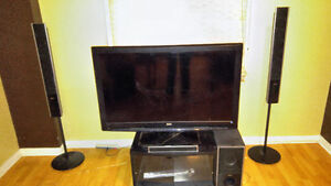 42 inch (sony stereo system and stand included )
