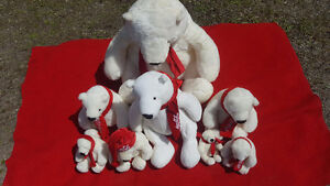 Coca Cola Teddy Bears  8 in all