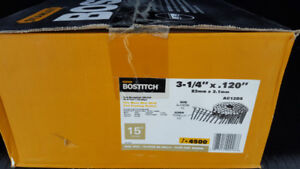 """3 1/2"""" x 0.120"""" Coil Nails Box with 4500 Nails"""