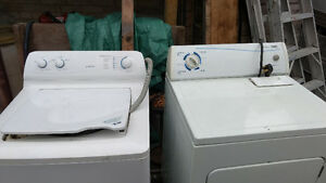 Moffat topload washer and front load dryer need some cleaning