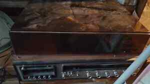 HOLIDAY AM/FM STEREO RECORD PLAYER! GOOD CONDITION! WORKS GOOD!