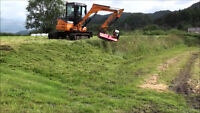 Excavator Mounted Flail Mower- Cuts Alders, Brush and Tall Grass