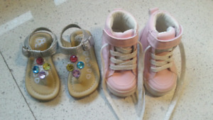 2 Pairs of BRAND NEW Children's Place Shoes size 4