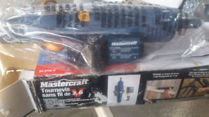 Mastercraft cordless screw driver Never been used
