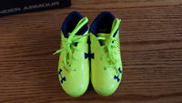 Under Armour Soccer Cleats, Used one summer, Size 10 US