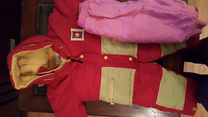 Girls size 18 months red winter coat and ski pants