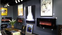 Oil paintings and Fireplaces
