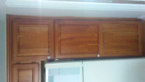 Quality Used Cherrywood Kitchen Cabinets Ensemble