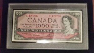 Wanted: Canadian $1000 Bills Wanted - Any Years at Any condition