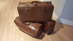 Vintage Leather Suitcases 3 for $40