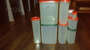 Tupperware food storage containers ( help organize cupboards )