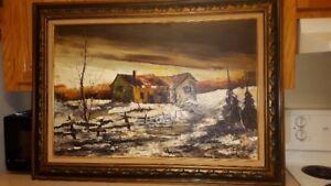 Original Landscape Piece by Claude Langevin