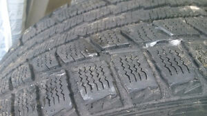 Dunlop  Winter Used 4 Tires with rims - good for one more winter