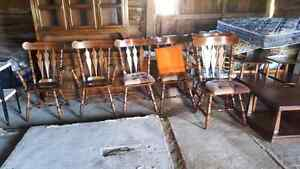 6 matching chairs with table (not in photo) Peterborough Peterborough Area image 1