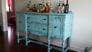 Gorgeous 1920's Shabby Chic Antique Buffet