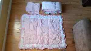 Crib Bedding Set - Girl Kitchener / Waterloo Kitchener Area image 1