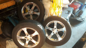 17 inch chrome 5 spoke wheels with tires