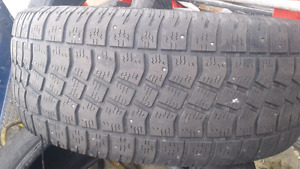 4 used snow tires studded