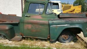 1956 chevy 3100 frame complete with newer front clip