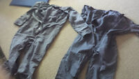 2 pairs of 46-Tall  sized coveralls