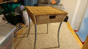 Wicker Night Table