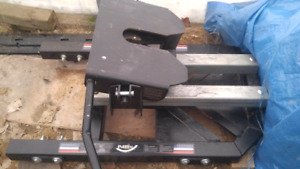 Pullrite superglide 5th wheel hitch and rails