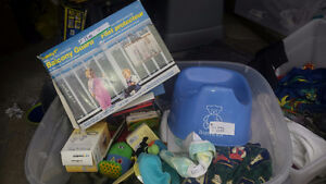 Bjorn potty, covers baby jogger/carrier, winter items,cloths,toy