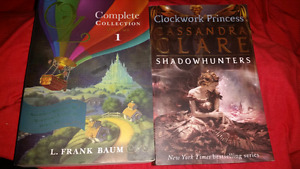 2 books wizard of Oz & clockwork princess
