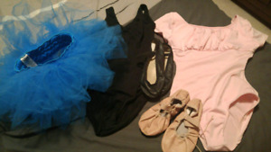 ballet outfits and slippers