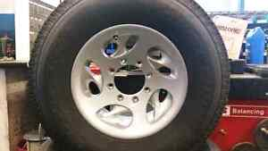 Brand new LT245/75R16 Toyos with painted american racing rims Kitchener / Waterloo Kitchener Area image 1
