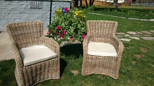 Brand New Hand Woven Rattan Dining Chair Arm Chair Kobu Sarnia Sarnia Area image 5