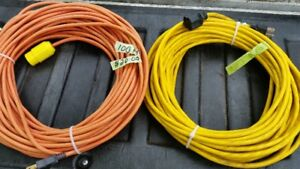 100 FOOT & 81 FOOT 3 PRONG OUTDOOR  EXTENSION CORDS