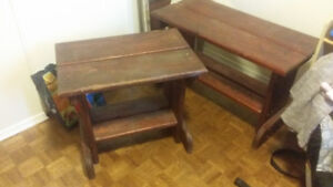 Two solid living room or bedroom tables for sale!