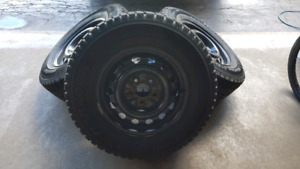 215/70/15 Hankook i-Pike Winter Tires with Rims