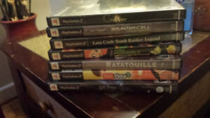 7 PS2 Games /// In very good condition /// $10 for all 7