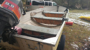 14ft mirrocraft with 30hp mariner 2 stroke.