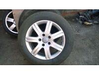 2008 Genuine Audi Q7 Alloy Wheel with tyres 235-60-18