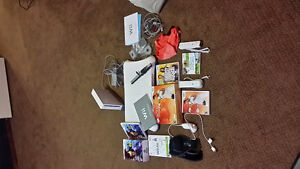 Wii  system with controllers and Wii fit etc
