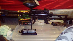 sniper bt 4 combat paintball gun with attachments