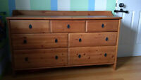 Dresser 7 drawers made of solid pine
