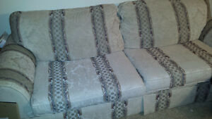 White couch w/ design.  $30 OBO