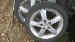 Mazda rims tire X2 .195 50 16 5 bolt